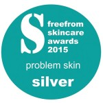 FreeFrom Skincare Awards 2015 Winner Problem Skin Silver logo