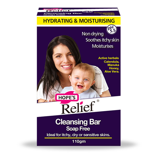 Hope's Relief Eczema Psoriasis Soap Free Cleansing Bar