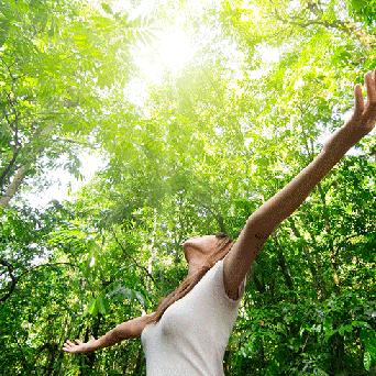 Hope's Relief Eczema Psoriasis Cream Ingredients Woman in forest